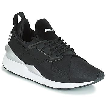 kengät Naiset Matalavartiset tennarit Puma WN MUSE SATIN II.BLACK Black