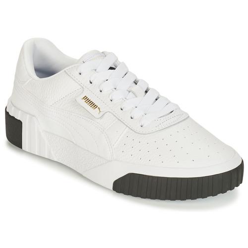 kengät Naiset Matalavartiset tennarit Puma CALI White / Black