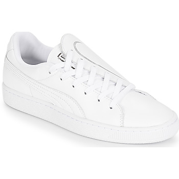 kengät Naiset Matalavartiset tennarit Puma WN BASKET CRUSH EMBOSS.WH White