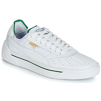 kengät Miehet Matalavartiset tennarit Puma CALI.WH-AMAZON GREEN-WH White / Green