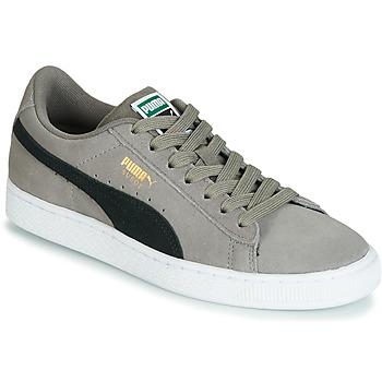 kengät Pojat Matalavartiset tennarit Puma JR SUEDE CLASSIC.CHARCO-BL Grey