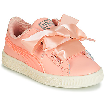 kengät Tytöt Matalavartiset tennarit Puma PS BASKET HEART JELLY.PEAC Pink