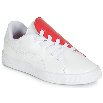 kengät Tytöt Matalavartiset tennarit Puma PS BKT CRUSH PATENT AC.W-H White