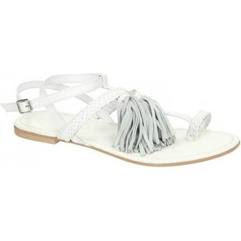 kengät Naiset Sandaalit ja avokkaat Leather Collection  White