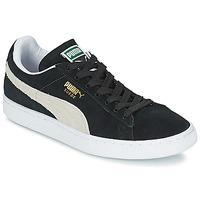 kengät Matalavartiset tennarit Puma SUEDE CLASSIC Musta / Valkoinen