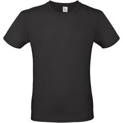 vaatteet Miehet Lyhythihainen t-paita B And C TU01T Black