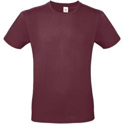vaatteet Miehet Lyhythihainen t-paita B And C TU01T Burgundy