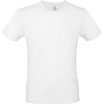 vaatteet Miehet Lyhythihainen t-paita B And C TU01T White