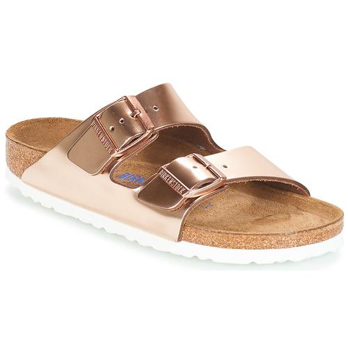 kengät Naiset Sandaalit Birkenstock ARIZONA SFB Kulta