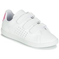 kengät Tytöt Matalavartiset tennarit Le Coq Sportif COURTSET PS White / Pink