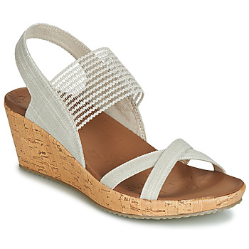 kengät Naiset Sandaalit ja avokkaat Skechers BEVERLEE Beige