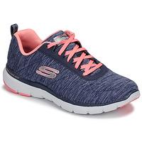 kengät Naiset Fitness / Training Skechers FLEX APPEAL 3.0 Laivastonsininen / Pink