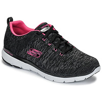 kengät Naiset Fitness / Training Skechers FLEX APPEAL 3.0 Black / Pink