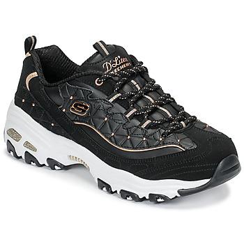 pretty nice bf9d6 27e8b kengät Naiset Matalavartiset tennarit Skechers D LITES GLAMOUR FEELS Black