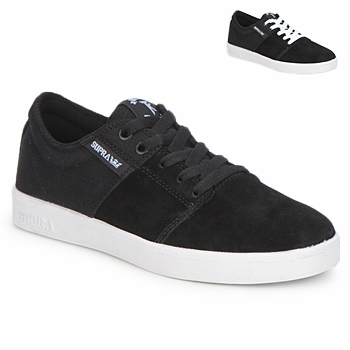kengät Matalavartiset tennarit Supra STACKS II Black / White