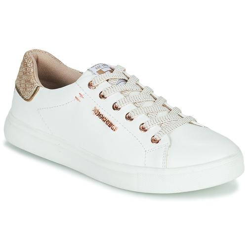 kengät Naiset Matalavartiset tennarit Dockers by Gerli 44MA201-594 Valkoinen