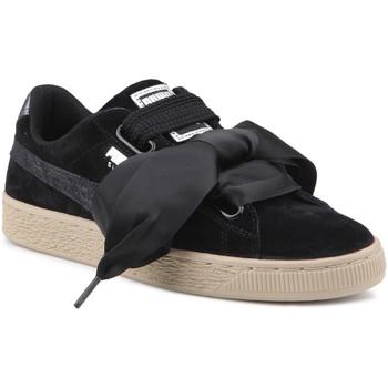 kengät Naiset Matalavartiset tennarit Puma Lifestyle shoes   Suede Heart Safari Wns 364083 03 black