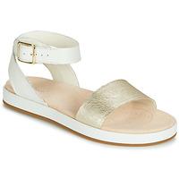 kengät Naiset Sandaalit ja avokkaat Clarks BOTANIC IVY White