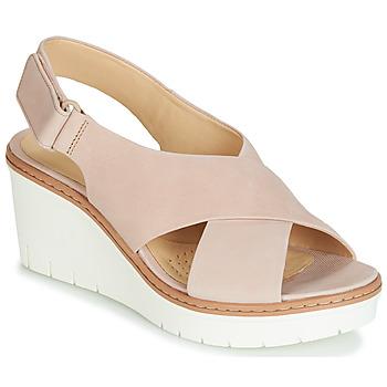 kengät Naiset Sandaalit ja avokkaat Clarks PALM CANDID Nude