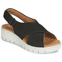kengät Naiset Sandaalit ja avokkaat Clarks UN KARELY SUN Musta