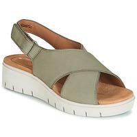 kengät Naiset Sandaalit ja avokkaat Clarks UN KARELY SUN Green