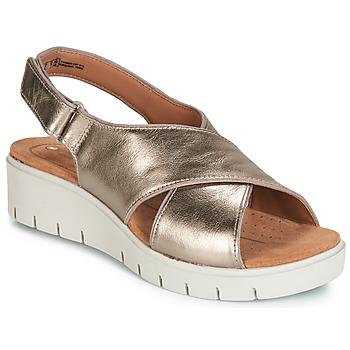 kengät Naiset Sandaalit ja avokkaat Clarks UN KARELY SUN Kulta