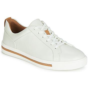 kengät Naiset Matalavartiset tennarit Clarks UN MAUI LACE White