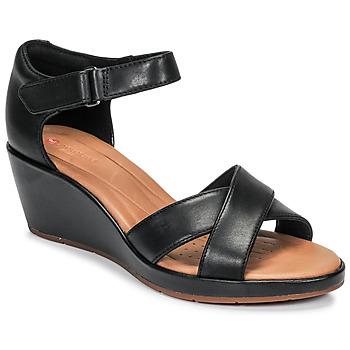 kengät Naiset Sandaalit ja avokkaat Clarks UN PLAZA CROSS Black