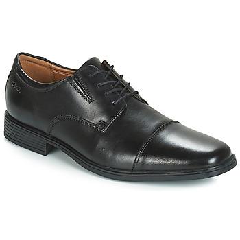 kengät Miehet Derby-kengät Clarks TILDEN CAP Black