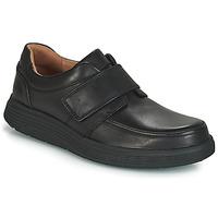 kengät Miehet Derby-kengät Clarks UN ABODE STRAP Musta
