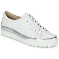 kengät Naiset Matalavartiset tennarit Caprice BUSCETI White / Hopea