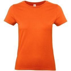 vaatteet Naiset Lyhythihainen t-paita B And C E190 Orange