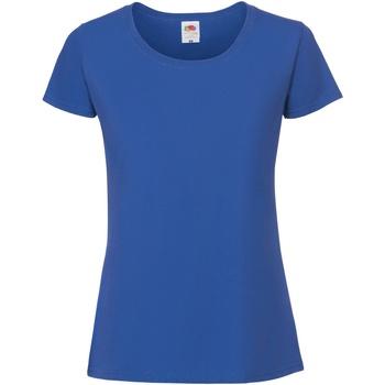vaatteet Naiset Lyhythihainen t-paita Fruit Of The Loom 61424 Cobalt