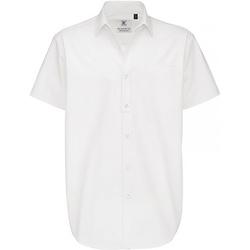 vaatteet Miehet Lyhythihainen paitapusero B And C Sharp White