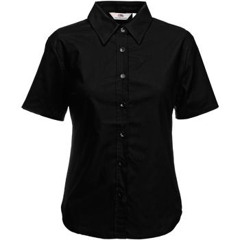 vaatteet Naiset Paitapusero / Kauluspaita Fruit Of The Loom 65000 Black