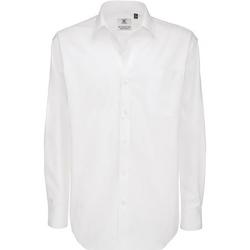 vaatteet Miehet Pitkähihainen paitapusero B And C SMT81 White