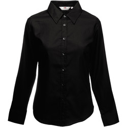 vaatteet Naiset Paitapusero / Kauluspaita Fruit Of The Loom 65002 Black