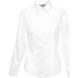 vaatteet Naiset Paitapusero / Kauluspaita Fruit Of The Loom 65002 White