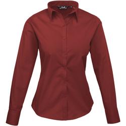 vaatteet Naiset Paitapusero / Kauluspaita Premier PR300 Burgundy