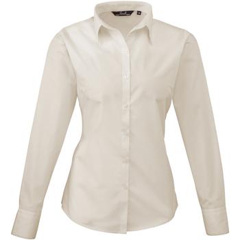 vaatteet Naiset Paitapusero / Kauluspaita Premier PR300 Natural