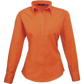 vaatteet Naiset Paitapusero / Kauluspaita Premier PR300 Orange