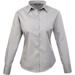 vaatteet Naiset Paitapusero / Kauluspaita Premier PR300 Silver