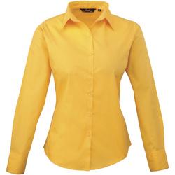 vaatteet Naiset Paitapusero / Kauluspaita Premier PR300 Sunflower