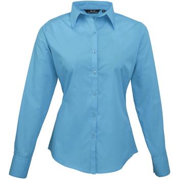vaatteet Naiset Paitapusero / Kauluspaita Premier PR300 Turquoise