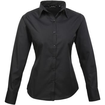 vaatteet Naiset Paitapusero / Kauluspaita Premier PR300 Black