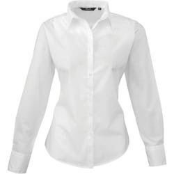 vaatteet Naiset Paitapusero / Kauluspaita Premier PR300 White