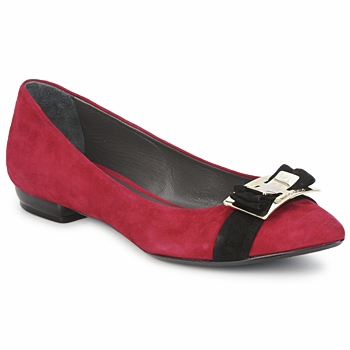 kengät Naiset Balleriinat Alberto Gozzi CAMOSCIO RUBINO Red