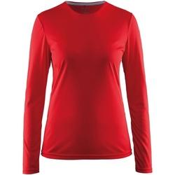 vaatteet Naiset T-paidat pitkillä hihoilla Craft CT89F Red