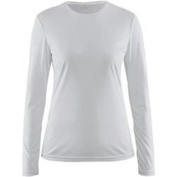 vaatteet Naiset T-paidat pitkillä hihoilla Craft CT89F White