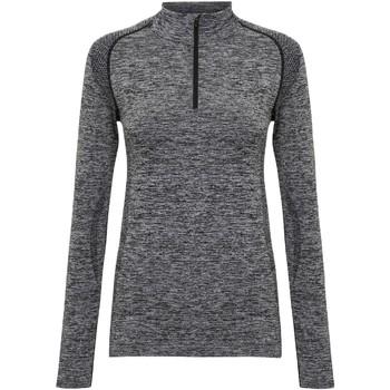 vaatteet Naiset T-paidat pitkillä hihoilla Tridri TR205 Charcoal